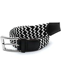 MYB Cinturón elástico trenzado para hombres y mujeres - múltiples colores y tamaños