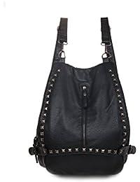 Preisvergleich für Honeymall Damen Handtasche PU Leder Backpack Purse Rivet Studded Schultertasche Vintage Satchel Daypack