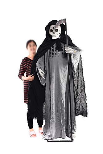 WSJDE Haunted House Escape Gruselige Halloween Dekoration Sichel Horror Halloween Ghost Animierte Skelett Bar Club Halloween Scary Requisiten (Party 2019 Halloween Escape)