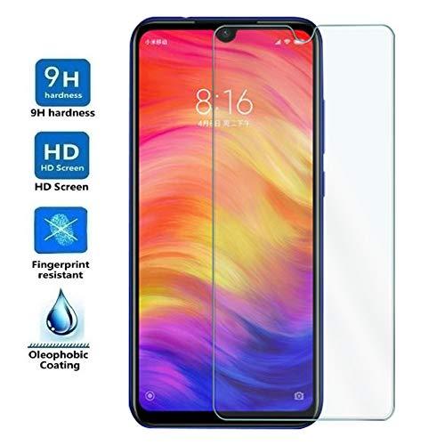 ELECTRÓNICA REY Protector de Pantalla para XIAOMI REDMI Note 7-7 Pro - Note 7S, Cristal Vidrio Templado Premium