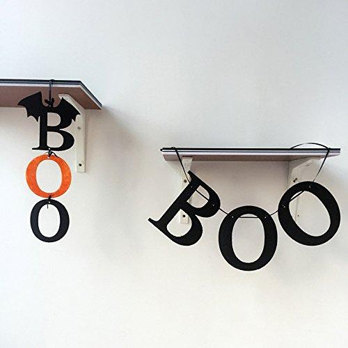 2Pcs Halloween Fahnen Party Bevorzugungs Schläger BOO Zeichen für Wand Dekoration (Halloween-boo-tür-zeichen)