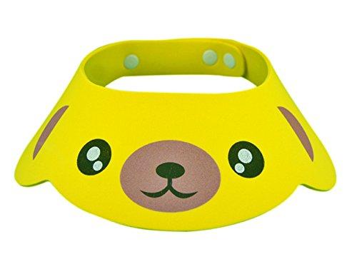 (Modell 2 Gelb) Duschhaube - Bad - Augenschutz - Ohren - Kinder - Weich - Einstellbar - Komfortabel - Bunt - Geschenkidee