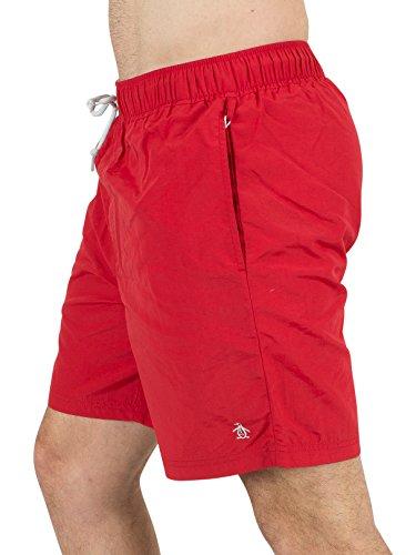 Original Penguin Homme Logo Papa Swim Shorts, Rouge Rouge