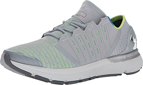 Under Armour Men's Speedform Europa Re Overcast Gray/Limelight Metallic Silver Ankle-High Running Shoe - 12.5M