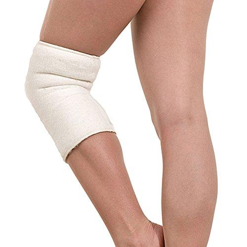 SamWo, 2 (1Paar) Kniewärmer Gelenkwärmer sensitiv Floor 100% Merinowolle, elastisch, bei 30 Grad waschbar, außen genäht Größe L