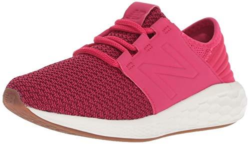 New Balance Unisex-Kinder Fresh Foam Cruz v2 Laufschuhe, Pink (Pomegranate/Vortex FP), 37 EU
