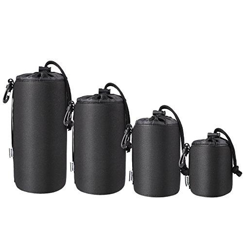 MVPOWER Objektivtasche, 4 Größen Neopren Objektivbeutel, 5mm Dicke Wasserabweisend und Stoßdämpfend, Perfekte Schutztasche für Objektive