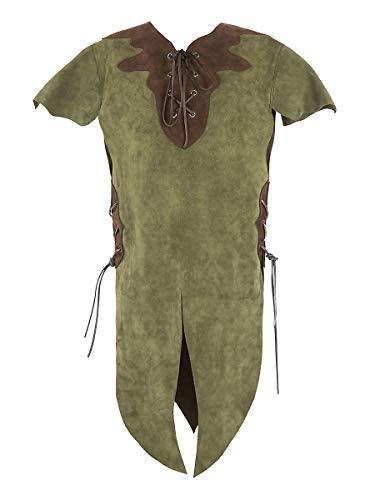 Andracor - hochwertige Kinder-Lederrüstung für Elfen, Hobbits, Knappen, und weitere kleine Geschöpfe - Grün - Größe S - individuell einsetzbar für LARP, Cosplay, Mittelalter, Fantasy