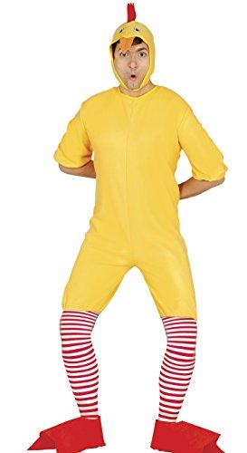 Küken Kostüm für Erwachsene in Gr. M - L, (Baby Hahn Kostüm)