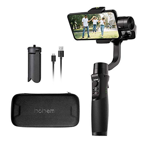 Hohem iSteady Mobile Plus Smartphone Gimbal stabilizer 3-Achsen Handheld Stabilisator für iPhone XS/XR/X/8/8 Plus, Samsung S10, S9, Note 9/8, Huawei P30 -