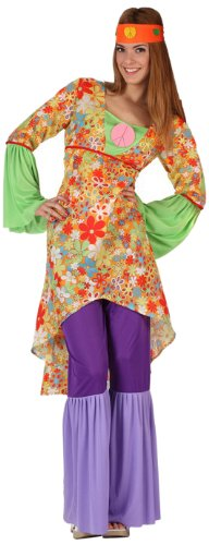 Atosa - Disfraz de hippie para mujer, talla M/L (6037)