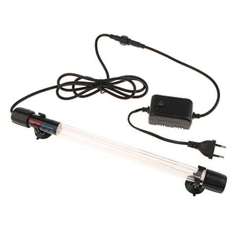 MagiDeal 1 x Aquarium Lighting LED Aquarium UV Sterilisator Lampe mit Gummisauger Zubehör - 15w