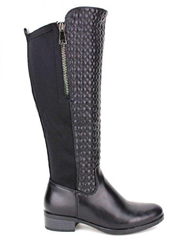 Cendriyon, Botte cavalière noire LINASO Mode Chaussures Femme Noir
