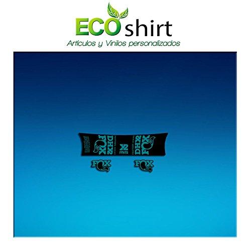 Ecoshirt 1P-KX90-0MPM Sticker Shock Fox Dh X2 Factory Series Am195 Aufkleber Decals Autocollants Stoßdämpfer Türkis -