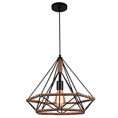 GRFH Retro Industrial Pendant Lights Loft Country Cafe Creative Bar Bar Restaurant Iron Chanp Cordes light Diamond Bird cage Suspension angulaire