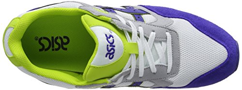 ASICS Gelsaga, Running Entrainement Mixte adulte Blanc (White/Dark Blue 152)