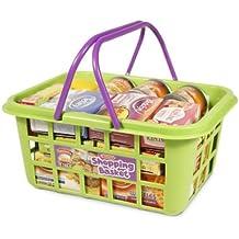 Casdon 628 - Cesta de la compra con comida de juguete