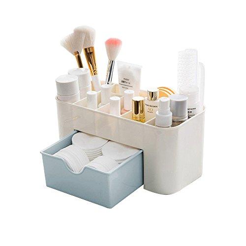 Desktop Makeup Organizer Schubladen, BAFFECT Kosmetik Aufbewahrungsbox Abteilung Büro Schreibtisch Organizer Desktop Schreibwaren Aufbewahrungsbox Makeup Organizer (Blau)