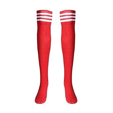 Saingace 1 Paar Schenkel-hohe Socken über Knie-Mädchen-Fußball-Socken