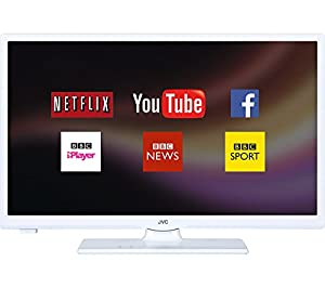 "JVC LT-24C661 Smart 24"" LED TV, White, Access content on Netflix,HD Ready 720p, Built In Wifi."