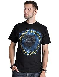 T-shirt Le Seigneur des Anneaux grand motif imprimé anneau de pouvoir coton noir