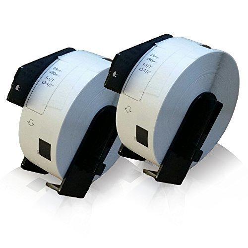 Preisvergleich Produktbild 2x kompatible Etiketten-Rolle für Brother DK-11201 P-Touch QL 1050 P-Touch QL 1050 N P-Touch QL 1060 N P-Touch QL 500 P-Touch QL 500 A P-Touch QL 500 BS P-Touch QL 500 BW P-Touch QL 550 P-Touch QL 560 Adress-Etiketten 29mm x 90mm DK11201