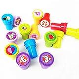 LIANGchueng, timbri autoinchiostranti in plastica per Bambini, Confezione da 10, per Decorare la casa Light Sensitive Oil + 10 Pattern Random Op Bag Compact