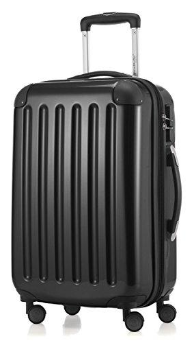 Hauptstadtkoffer - Hartschale Koffer Trolley Serie Alex 42 l Zahlenschloß hochglanz + 20,- Reisegutschein ... (schwarz)