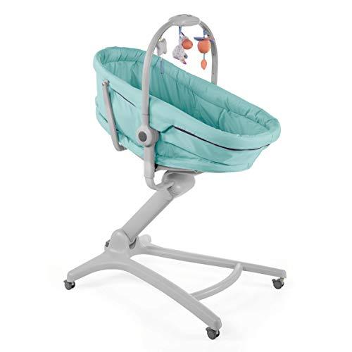 Imagen para Chicco Baby Hug 4en1 - Sistema multifunción: moisés, hamaca, trona y silla, regulable en altura, color azul turquesa (Aquarelle)