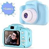 HOTSO Macchina Fotografica Bambini con 8GB Carta TF Inclusa Fotocamera Videocamera Mini DV Digitale Portatile 2 Pollici LCD 1080P Giocattolo per Ragazzi Kids, Blu