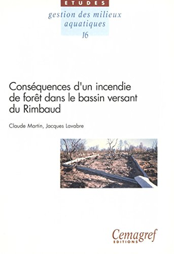 Couverture du livre Conséquences d'un incendie de forêt dans le bassin versant du Rimbaud