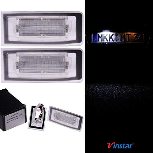 VINSTAR LED Kennzeichenbeleuchtung E-geprüft CAN-Bus 18 LEDs je Modul 6000 Kelvin für Audi TT Roadster, Coupe (8N) 1999-2006