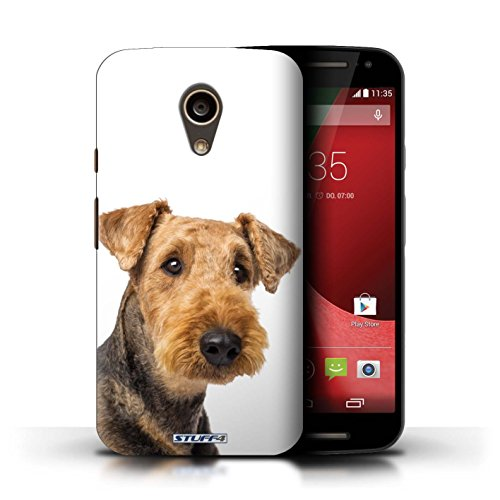 Kobalt® Imprimé Etui / Coque pour Motorola Moto G (2014) / Labrador conception / Série Chiens Airedale Terrier