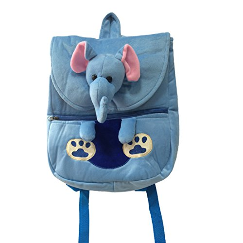 Ultra Felt Velvet School Bag with Elephant Soft Toy (Clear)