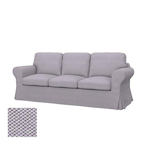 Ektorp Sofa (Soferia - IKEA EKTORP 3er-Sofa Bezug, Nordic Light Grey)