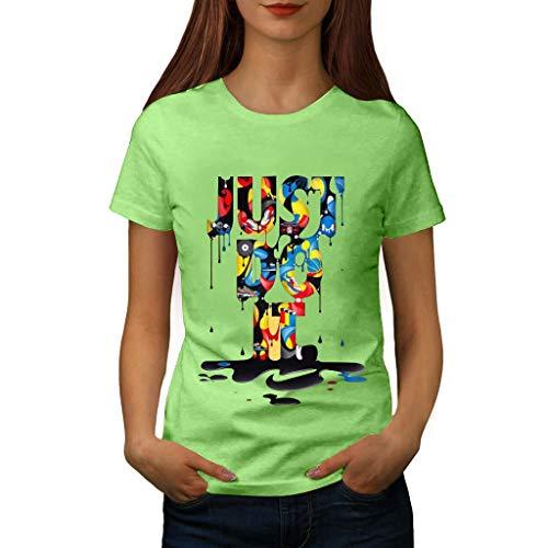 Slub-baumwolle Kurz (routinfly Frauen Kurzarm T-Shirt,T-Shirt mit Lässiges T-Shirt Bluse Tops Buntes Muster Bedrucktes Kurzarm-T-Shirt Plus Size Print