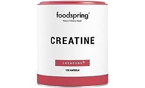 foodspring Creatina cápsulas, 120 cápsulas, Refuerzo para ganar masa muscular