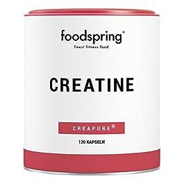 foodspring Capsule Creatina, 120 capsule, Booster per lo sviluppo muscolare, Prodotto in Germania