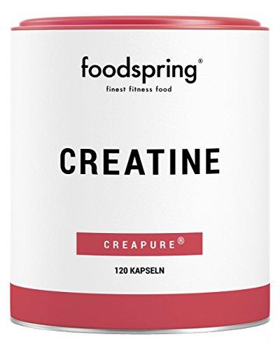 foodspring Creatine Kapseln, 120 Stück, reines Creatin Monohydrat für Muskelwachstum, Kraft und Ausdauer, Hergestellt in Deutschland mit sorgfältig ausgewählten Rohstoffen