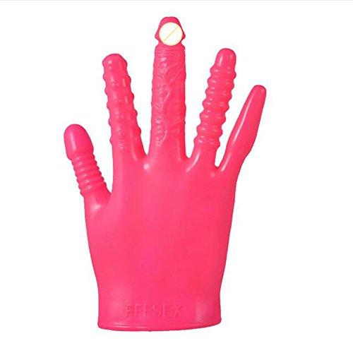 guanti sex Zantec Massaggia i guanti vibranti Guanti vibranti di massaggio del sesso adulto di massaggio magico per le coppie del partito Rose red