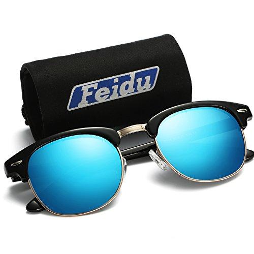 d52b02ac97 FEIDU UV400 Clubmaster Gafas de Sol Polarizadas Para Hombre y Mujer FD 3030