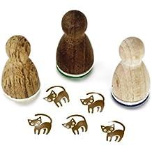 Stempel Holzstempel Motivstempel /« kleine KATZE /» Scrapbooking Embossing Kinderstempel Tierstempel Haustier Kater Katzenbaby