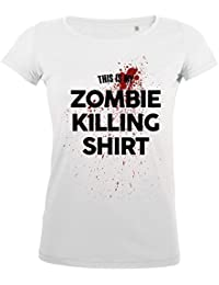 FabTee This Is My Zombie Killing Shirt Fun - Women T-Shirt - Size XS-2XL