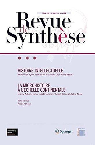 Histoire Intellectuelle La Microhistoire A L''chelle Continentale