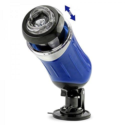 Teleskop-Masturbator mit Stoßfunktion - Blau - LOVEANDVIBES