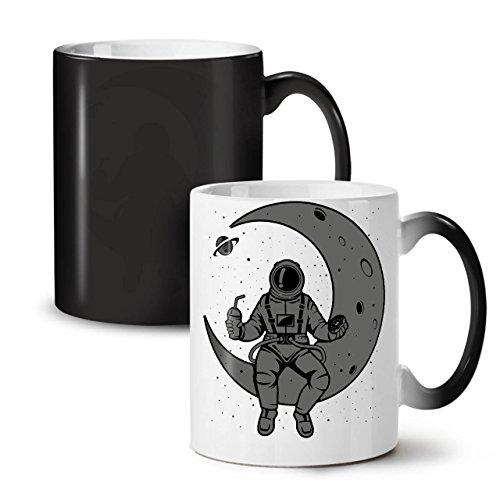 Platz Mond Himmel Mode SchwarzSchwarz Farbe Ändern Tee KaffeKeramik Farbwechselbecher 11 | (Bis Kleid Sport Zum Thema)