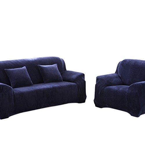 Beautylife66 Sofahusse Hochwertig Sofabezug Verschiedene Größe Sesselhusse Blau-S