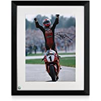 Exclusive Memorabilia Rahmen Carl Fogarty Signierte Superbikes Foto: Celebration Pose