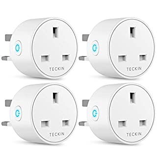 Smart Plug WiFi Outlet TECKIN Mini Plug Works with Amazon Alexa(Echo,Echo Dot), Google Home and IFTTT, Wireless Socket Remote Control Timer Plug Switch, No Hub Required 4 Pack
