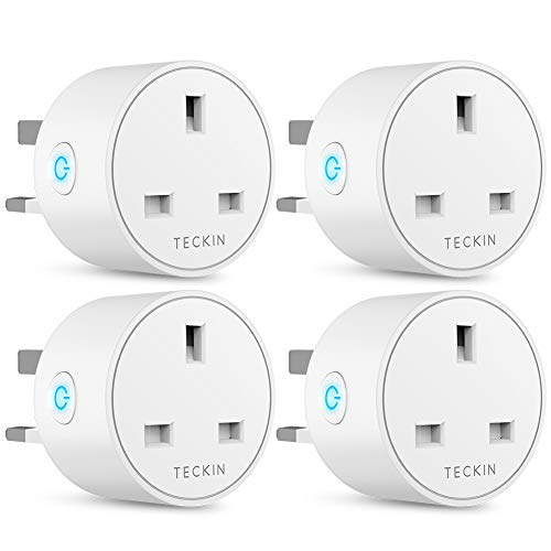 Smart Plug WiFi Outlet TECKIN Mini Plug Works with Amazon Alexa(Echo,Echo  Dot), Google Home and IFTTT, Wireless Socket Remote Control Timer Plug